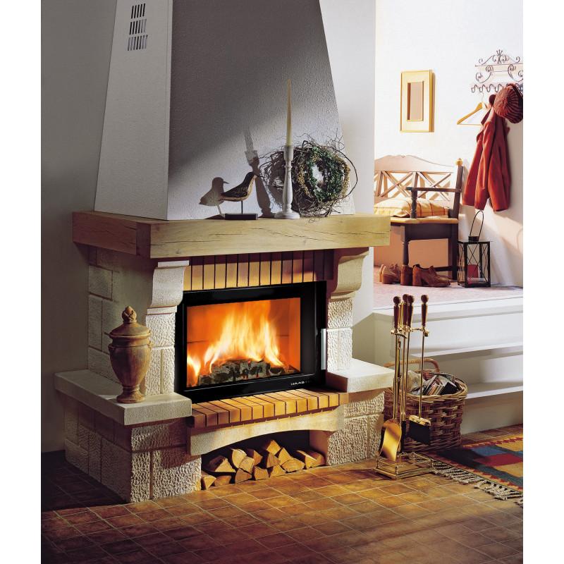 haas sohn kaminbausatz alpes iii naturstein sireul klinker eiche echtholz kamineinsatz. Black Bedroom Furniture Sets. Home Design Ideas