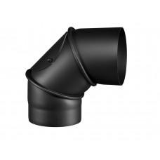 Knie 90° drehbar Ø160/2  mit Reinigungsöffnung, schwarz