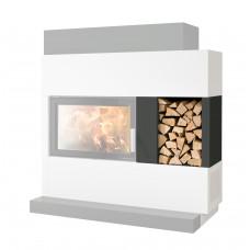 Holzlagerfach für ADONIS mit Wärmeschutzblech =