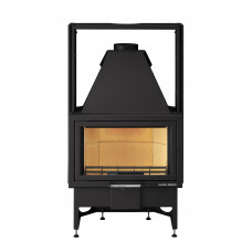 Kamineinsatz OPUS-II 186.18, schwarz, Sichtfenster flach