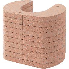 Wärmespeicher-Block für Kaminofen FICUS/KALIUS/SALZBURG/INNZELL 70 kg (Ausführung grande) bestehend aus 12 Einzelelementen