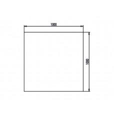 Unterleg-Platte Klarglas Form A 1000x1000mm