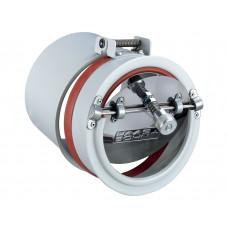 Energiespar-Zugregler mit Explosionsklappe Ø 150mm, aus pulverbeschichtetem Stahlblech