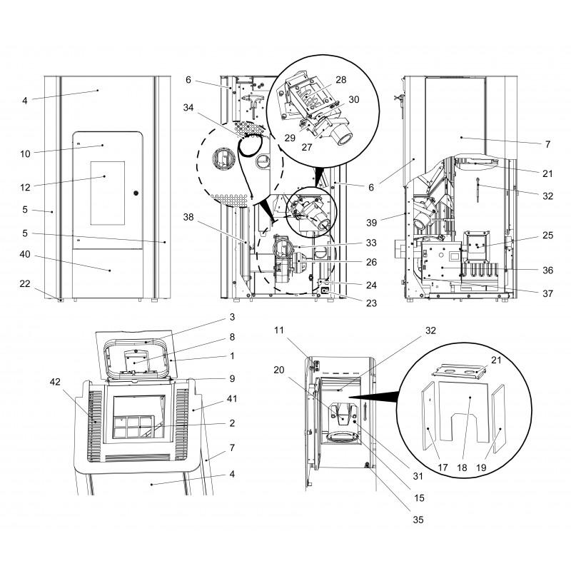 haas sohn pelletofen pallazza speckstein grundfarbe anthrazit. Black Bedroom Furniture Sets. Home Design Ideas