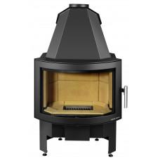 Kamineinsatz EXQUISIT-II 182.18, perl-schwarz, Sichtfenster gebogen