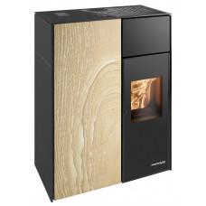 Pelletofen LUCCA-RLU 440.08-ST Woodstone  Premium, Grundfarbe schwarz, zertifiziert RAUMLUFT-UNABHÄNGIG