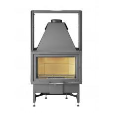 Kamineinsatz OPUS 186.18/1-AL, Sichtfenster flach