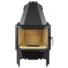 Kamineinsatz PRESTIGE-II 181.18, perl-schwarz, Sichtfenster prismatisch