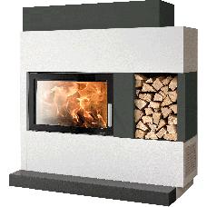 Kit de cheminée ADONIS-II, foyer KOMFORT-IV 180.80, couleur/version béton non traité, coloris personnalisable