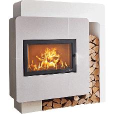 Kit de cheminée ARLBERG, avec foyer KOMFORT-IV 180.18, béton non traité, coloris personnalisable