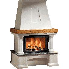 Kit de cheminée GENF-III Ruivina, foyer KOMFORT-IV 180.18 noir, béton non traité, coloris personnalisable