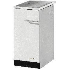 Cuisinière HA 40.5-A blanc, plaque de cuisson acier sans couvercle