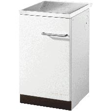 Cuisinière HA 50.5-A blanc, plaque de cuisson acier sans couvercle