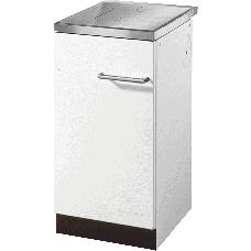 Cuisinière HSZ 40.5 blanc, plaque de cuisson acier