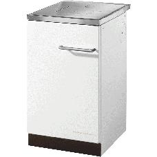 Cuisinière HSZ 50.5 blanc, Plaque de cuisson acier