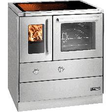 Cuisinière HSDZ 75.5-SF-C easy inox, porte vitrée, plaque de cuisson vitro céramique, four et raccordement coté droit