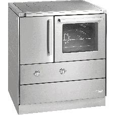 Cuisinière HSDZ easy 75.5 inox,  Plaque de cuisson en acier poncé / four et raccordement à droite=
