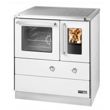 Cuisinière HSDZ 75.5-SF easy blanc, porte vitrée, plaque de cuisson acier, four et raccordement coté gauche