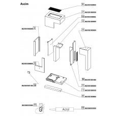 Set de pierre pour cheminée en kit  ASCIM