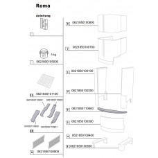 Set de pierre pour cheminée en kit  ROMA