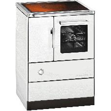 Cuisinière HSD 60.5-C, blanc,  Plaque de cuisson en céramique,four et raccordement à droite=