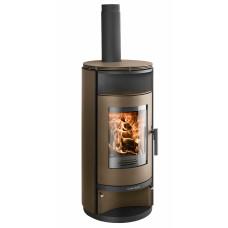 Poêle à bois HUSUM 206.15/3 noir/brun-metallique