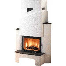 kit de cheminée LYON-II, foyer PRESTIGE-II 181.18 noir, béton non traité, coloris personnalisable