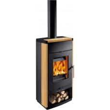 Poêle à bois MONTEGROTTO-II 305.15-ST noir avec grès