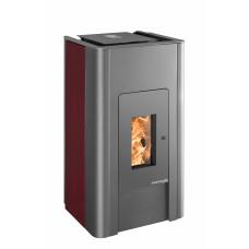 Poêle à granulé PALLAZZA 517.08-C anthracite / céramique rouge cheminée