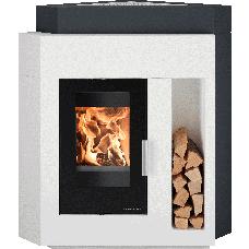 Kit de cheminée d'angle PINUS-II ANGLE, foyer PINUS-II 218.17, béton non traité, coloris personnalisable
