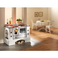 Cuisinière en kit PLANAI.5 C avec BSH 75.5.-SF inox, porte vitrée, plaque de cuisson en vitro céramique, four et raccordement à droite, plaques fixes cotto
