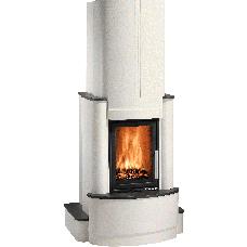 Kit de cheminée ROMA-II, foyer ESPRIT-IV 185.16 noir, béton non traité, coloris personnalisable