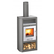 Poêle à bois YSTAD 282.15-2 anthracite-WS granit/porte argenté