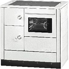 Herd HA 85.5-A weiß, Backrohr und Rauchrohranschluss rechts, Stahlplatte lackiert