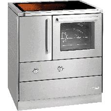 HSDZ 75.5-C, Grundfarbe Edelstahl, Sockelblende Edelstahl, Backrohr rechts, Glaskeramikplatte =