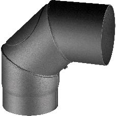 Knie 90° - 150 mm für Kalius / Ficus / Treviso schwarz