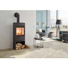 Kaminofen GASTEIN easy 350.15, Grundfarbe perl-schwarz mit Holzfach